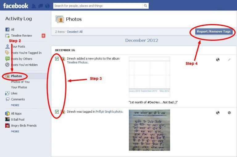 How To Remove Tagged Photos From Facebook
