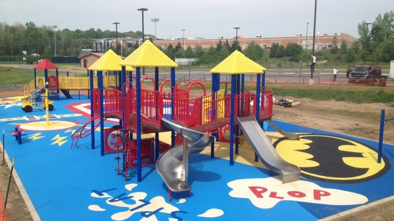 Sports and Safety Surfacing Options include Colour and Design to Look Amazing