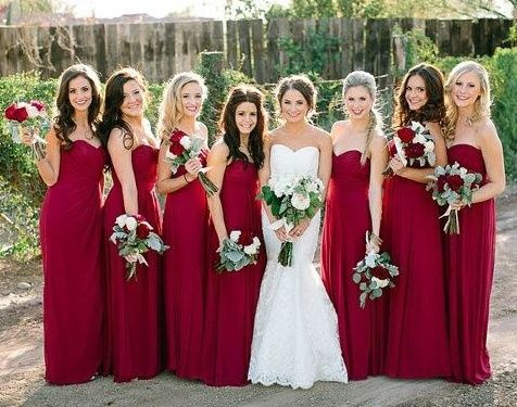 Ever Pretty Cheap Burgundy Bridesmaid Dress Collection